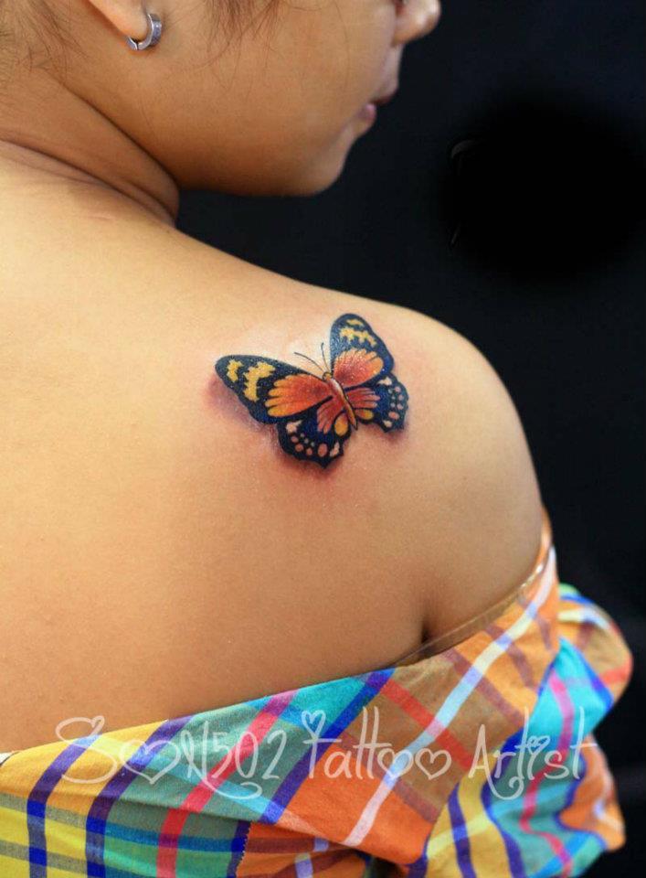 Một tác phẩm Tattoo ở vai