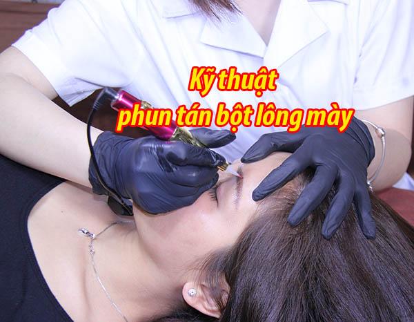 Kỹ thuật phun tán bột lông mày trong phun xăm thẩm mỹ