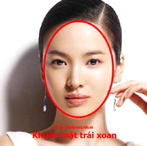 Khuôn mặt hình ovan (trái xoan)