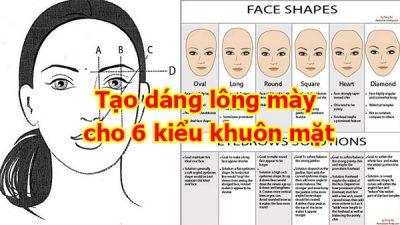 Tạo dáng lông mày cho 6 kiểu khuôn mặt