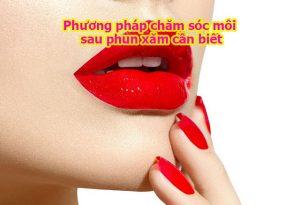 Chăm sóc môi sau phun xăm thẩm mỹ